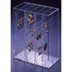 Acrylic Earring Organizer - Holds 210 Pairs of Earrings