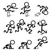 Stick Figure People Olympic Running
