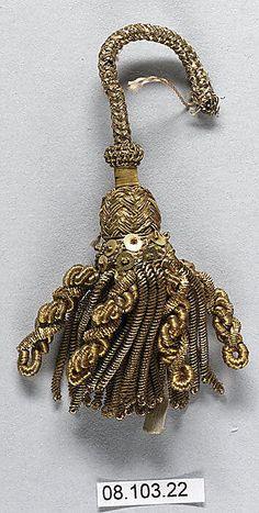 Tassel  early 19th c, metal thread.