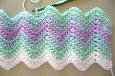 Rickrack Rainbow Baby Blanket pattern by Red Heart Design Team Best Picture For Crochet purse For Your Taste You are looking for something, and it. Crochet Ripple Afghan, Baby Girl Crochet Blanket, Crochet Baby Blanket Free Pattern, Knitted Baby Blankets, Baby Afghan Patterns, Rainbow Baby, Knitting Patterns, Red Hearts, Blanket Design