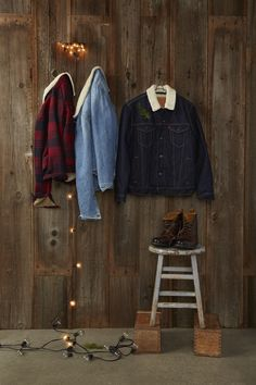 Your essential layer for the season. Get warm in a sherpa-lined Trucker Jacket, available in denim, plaid or corduroy.