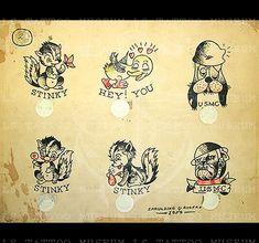 Vintage Flash, Vintage Art, Vintage Tattoo Design, Vintage Tattoos, Tattoo Museum, Traditional Tattoo Flash, Classic Tattoo, American Traditional, Goods And Services