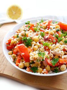 Mediterranean Chickpea Salad | Haute & Healthy Living