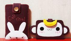 펠트 DIY : 펠트로 만든 원숭이 카드지갑::이기적인 여자의 이기적인 세상