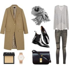 "MINIMAL + CLASSIC: ""Black, Grey, and Camel"" by fashionlandscape"