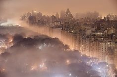 Canvas print of light pollution and fog combine to blur a New York City skyline over Central Park by NatGeo via @greatbigcanvas