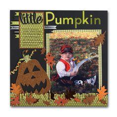 Pumpkin Halloween Pirate Kid Layout