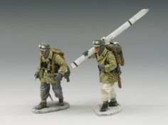 World War II German Winter BBG013 Mountain Troopers - Made by King and Country Military Miniatures and Models. Factory made, hand assembled, painted and boxed in a padded decorative box. Excellent gift for the enthusiast.