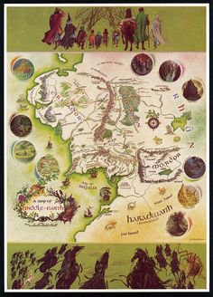 LOTR map of Middle Earth