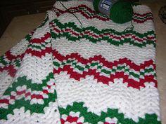 a knit and crochet community Christmas Crochet Blanket, Christmas Afghan, Crochet Christmas Ornaments, Christmas Crochet Patterns, Holiday Crochet, Christmas Knitting, Christmas Crafts, Christmas Items, Christmas Decorations