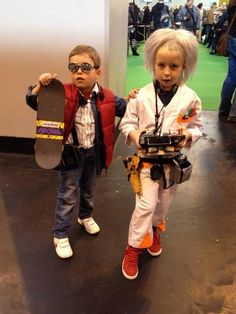 Best representation descriptions: Marty McFly and Doc Brown Costumes Related searches: Easy Comic-Con Costume Ideas,Comic-Con Couples Costu. Comic Con Costumes, Cool Costumes, Cosplay Costumes, Costume Ideas, Supernatural Halloween Costumes, Doc Brown Costume, Comic Con Outfits, Lady Gaga Costume, Best Costume Ever