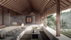 Bali Architecture, Tropical Architecture, Sustainable Architecture, Villa Design, House Design, Balinese Interior, Costa Rica, Bali Style Home, Resort Interior