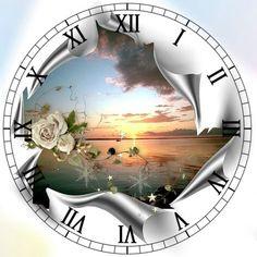Opened Can Look Clock Face Clock Art, Diy Clock, Clock Clipart, Clock Face Printable, Retro Clock, Wood Clocks, Foto Art, Large Clock, Pictures