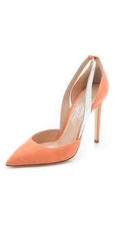 Soft pastel suede softens the sexy Alejandro Ingelmo 'Flavia' d'orsay pumps $795, get it here: http://rstyle.me/~uHSZ