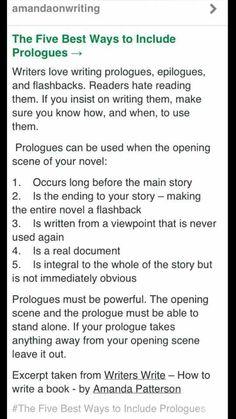 Prologues