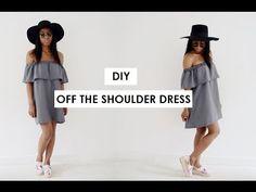 DIY OFF THE SHOULDER DRESS | MYSTYLEDIARYY