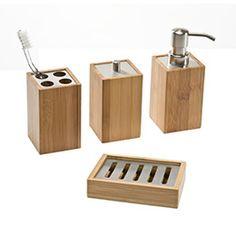 bamboo countertop bathroom set