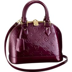 Louis Vuitton Monogram Vernis Alma-I want this...or in the blue/green color <3