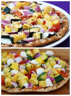 FLATBREAD VEGGIE-LOVERS PIZZA - Artisan Cook