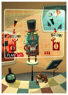Evil Genius by Steve Simpson, as part of an interactive ipad game to be released in 2013