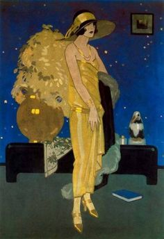 Rafael de Penagos was the artist who introduced illustration Art Deco in Spain. His role in the Spanish illustration was fundamental as the precursor of a new model of woman, modern and stylized. Arte Art Deco, Moda Art Deco, Art Deco Era, Art Deco Illustration, Harlem Renaissance, Alphonse Mucha, Art Vintage, Vintage Posters, Belle Epoque