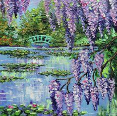 'Giverny Lily Pond' -  by Beata Sasik