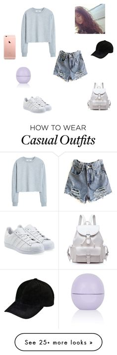 """casual day #2"" by synclairel on Polyvore featuring MANGO, adidas Originals, Coleman, Topshop, Fall, cute, casual and ootd"