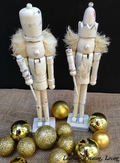 Learning Creating Living: Distressed Nutcrackers