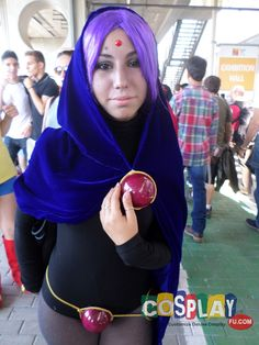 Raven Cosplay from Teen Titans in Romics Autumn 2014 IT