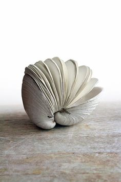 Book of the Sea - Hand stitched Clamshell Book Sculpture - Blank Journal