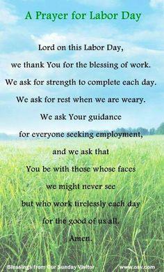 Labor Day prayer