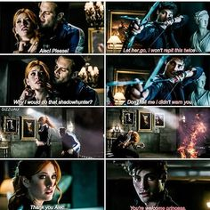 Alec and Clary moment #Alec #Clary #Shadowhunters