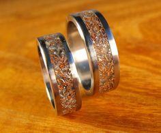 Titanium Wedding Band Set  Junk Rings by robandlean on Etsy, $265.00