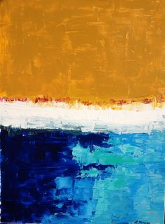 Fiery Horizon by Lindsay Marcus #abstract #art #painting #abstractpainting #acrylic