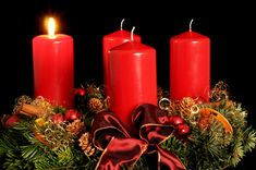 Advent+Wreath | Advent wreath - photo/picture definition - Advent wreath word and ...