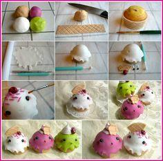 Ijsje cupcakes hoorntjes - icecream cupcakes