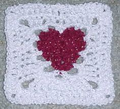 HEART AFGHAN ♥ⓛⓞⓥⓔ♥Square 2 Crochet Pattern