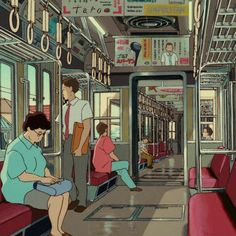 A long time ago when I was young my mother rode down the same subway, clutching me in her lap, desperate for a answer Aesthetic Images, Retro Aesthetic, Aesthetic Anime, Old Anime, Anime Manga, Anime Art, Art Studio Ghibli, Chihiro Y Haku, Anime Gifs