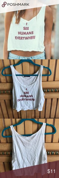 Brandy Melville I see humans tank No flaws Brandy Melville Tops Tank Tops