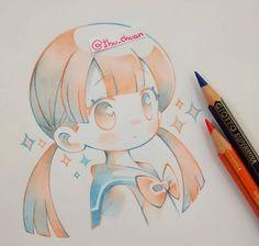 Kawaii little girl Art Kawaii, Kawaii Chibi, Anime Kawaii, Manga Drawing, Manga Art, Anime Art, Kawaii Drawings, Cute Drawings, Character Art