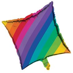 Descriptions Rainbow 18 inch Square Metallic Balloon/Case of 10 - Design : Rainbow - Size : 18 Inch - Shape : Square Features - Occasion Birthday - Size 18 inch 45.7 cm - 1 pieces per package and 10 p