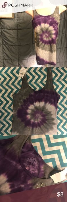 ❤️BOGO1/2 OFF❤️ Stranded tie dye small tank top Small Stranded tie dyed purple and grey tank top in excellent condition.  Still has Tags attaches. Prices are always negotiable and bundling is always appreciated and discounted   #stranded #tiedye #tanktop Stranded Tops Tank Tops