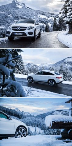 Driving through a winter wonderland with the Mercedes-Benz GLE 400 4MATIC. Photos by Kai Dalibor. #MBsocialcar [Mercedes-Benz GLE 400 4MATIC | Combined fuel consumption 8.9-8.7 l/100km | combined CO2 emission 207–199 g/km | http://mb4.me/efficiency_statement]