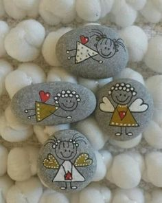 Pinselsteine  milled stones Steine Bemalen bemalen milled Pinselsteine Steine stones is part of Painted rocks - Rock Painting Patterns, Rock Painting Ideas Easy, Rock Painting Designs, Kids Crafts, Diy And Crafts, Craft Projects, Arts And Crafts, Craft Ideas, Easy Crafts
