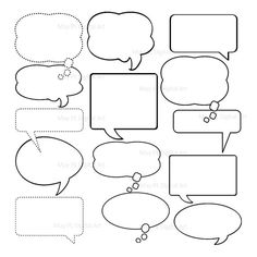 8 blank square speech bubbles free printables free. Black Bedroom Furniture Sets. Home Design Ideas