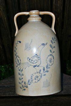 Ceramic Stoneware Jug Cobalt Blue