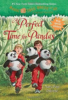 Magic Tree House #48: A Perfect Time for Pandas (A Stepping Stone Book(TM)) Kids love this beginning chapter book series, and it's nice to see another one with a Chinese setting. When Jack and Annie go to China, they find themselves in the middle of a big earthquake--and then a panda rescue operation.