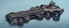 The Avengers Airship Concept Art.