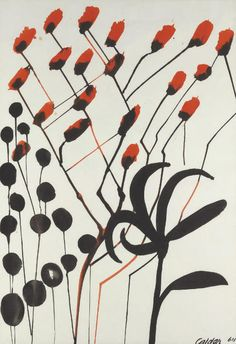 Alexander Calder   Untitled, 1964  Gouache and ink on paper   48 x 35½