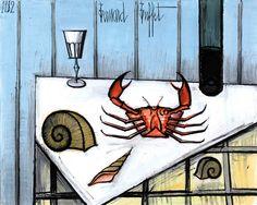 Bernard Buffet Nature morte au crab